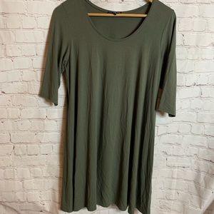 Eileen Fisher Green T-shirt Dress Size Medium